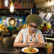 20170621 Copyright image 2017© Don Letts, Film Maker, Radio Broadcaster and DJ at Turtle Bay Restaurant, in Brixton, London, for the Reggae 45 Podcast For photographic enquiries please call Anthony Upton 07973 830 517 or email info@anthonyupton.com This image is copyright Anthony Upton 2017©. This image has been supplied by Anthony Upton and must be credited Anthony Upton. The author is asserting his full Moral rights in relation to the publication of this image. All rights reserved. Rights for onward transmission of any image or file is not granted or implied. Changing or deleting Copyright information is illegal as specified in the Copyright, Design and Patents Act 1988. If you are in any way unsure of your right to publish this image please contact +447973 830 517 or email: info@anthonyupton.com