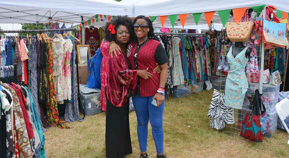 Yolanda and Toyin from West Norwood's Fashion Clicks with their stall