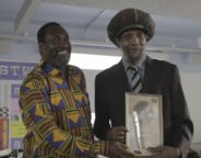 Organiser Kwaku with Sir Lloyd Coxsone