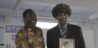 Organiser Kwaku with Sir Lloyd Coxsone