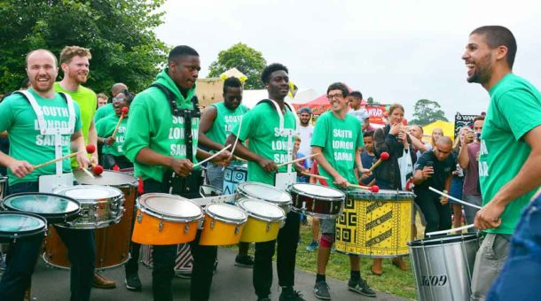Everybody enjoyed South London Samba – and none more than the drummers