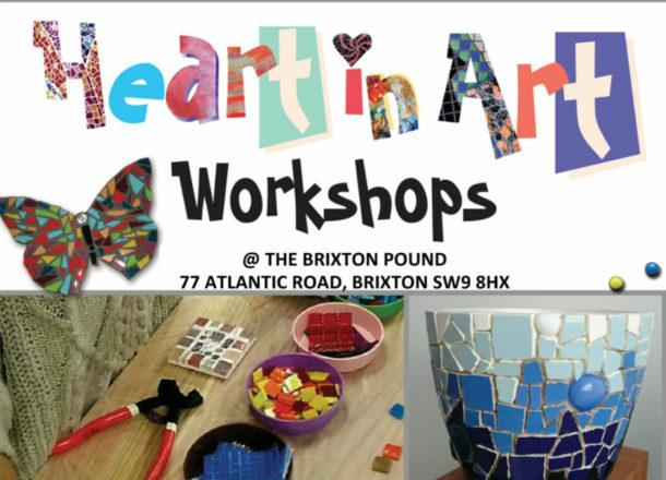 Flyer for mosaic workshop