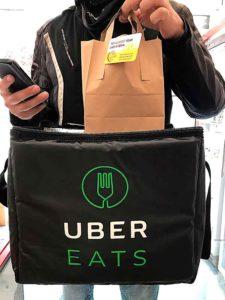 Uber driver with Ms Cupcake bag