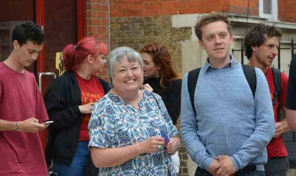 Prospect president Denise McGuire with Owen Jones