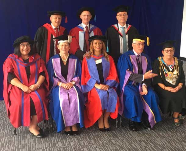 Miranda Brawn receives honorary doctorate from Brighton University