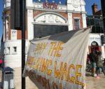 Ritzy strike banner