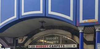 Budge Carpets shop on Atlantic Road