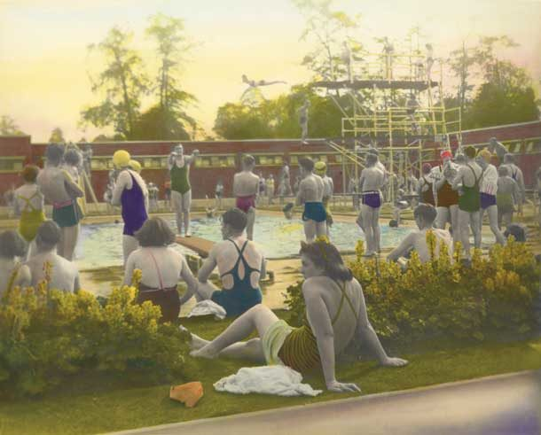 Brockwell Park Lido circa 1920