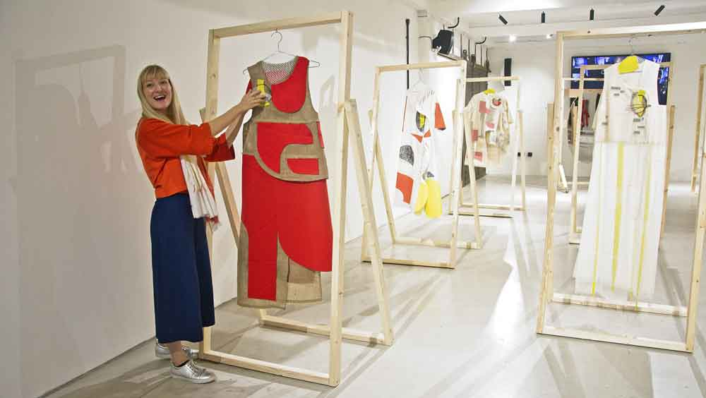 Isabel Fletcher shows off her designs in The Department Store