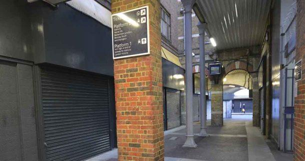 Brixton Station passageway