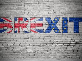 Brexit graffiti on a wall