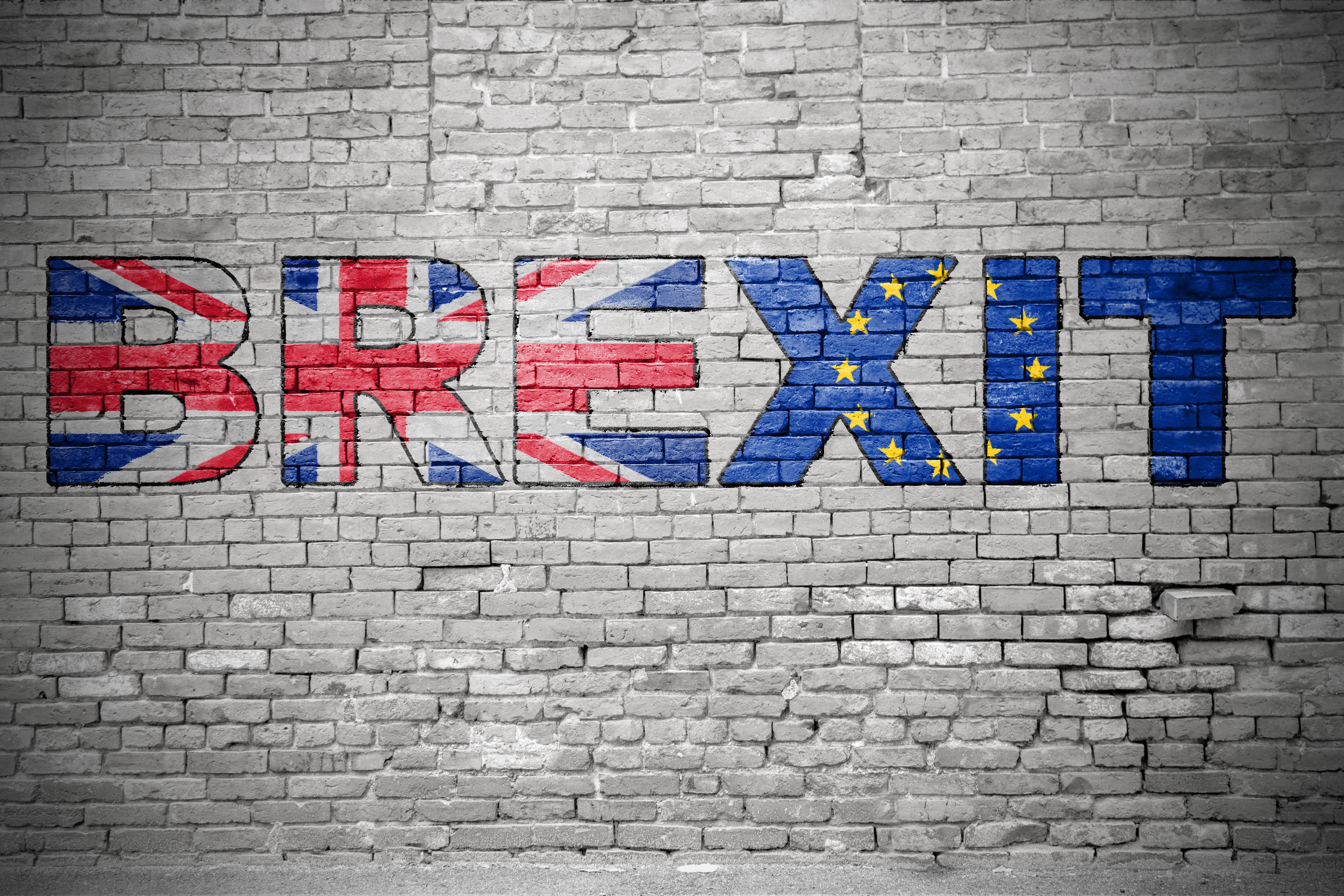 Brexit graffiti on a wall