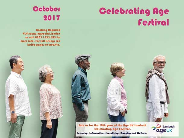Age UK Celebrating Age Festival brochure cover