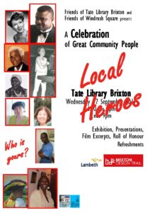 Celebration of Local Heroes @ Brixton Tate Library | England | United Kingdom