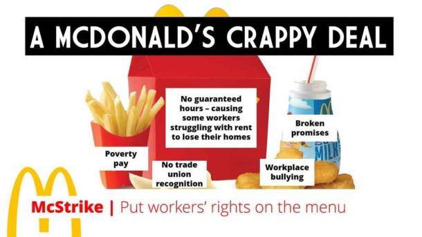 McDonald's strike poster