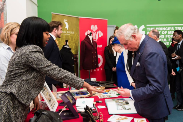 Lenique Louis meets Prince Charles