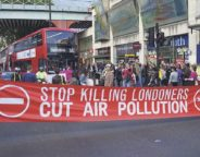Pollution protest on the Brixton Road