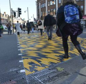 Flash crossing Brixton