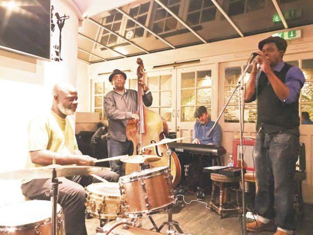 Errol Linton band playing at the Effra