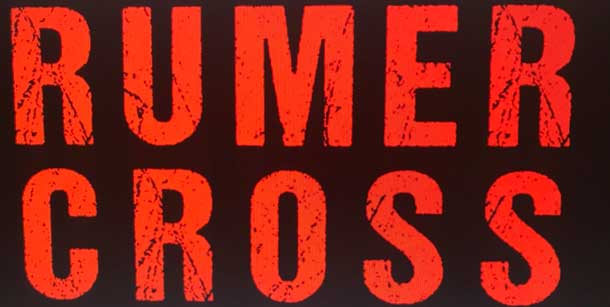 Logo for crowdfunding novel Killer Rumer. Heroine is Rumer Cross