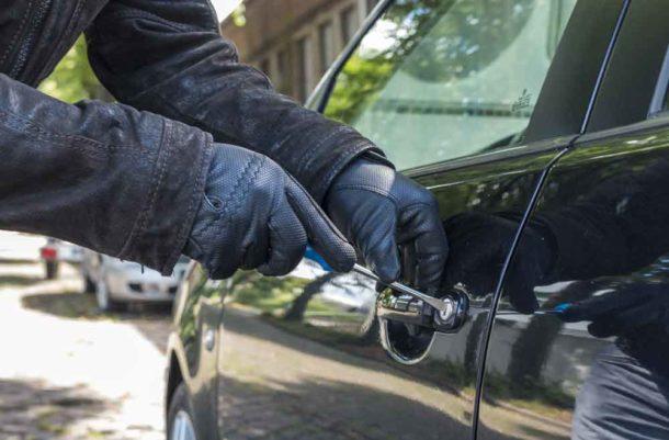Generic car break-in image