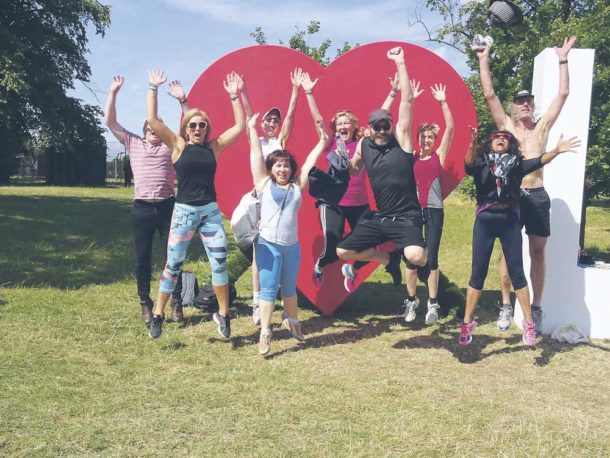 Participants in keep fit for the Over 40s: Fitter Ever After