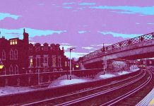 Painting of Brixton Station by Martin Grover