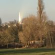 Brockwell PArk with sunlit Shard in background