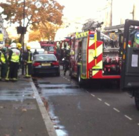 Fire engines in Dalyell Road