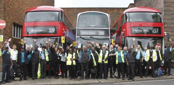 Arriva Brixton staff and buses © 2017 The Bus Industry Awards