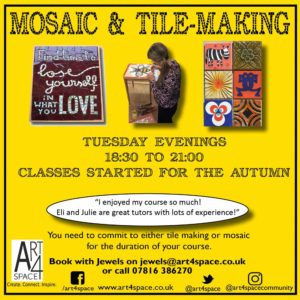 Learn mosaic and tile marketing @ Art4Space | England | United Kingdom