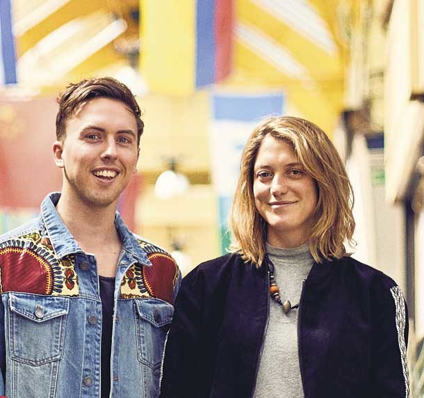 Artists who designed flags of Brixton Market Sam and Toni
