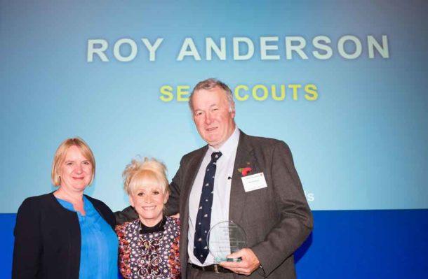 Roy Anderson receives his award from Deputy Mayor Joanne McCartney