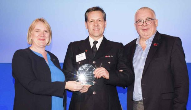 Steve Whitmore receives his award from Deputy Mayor Joanne McCartney