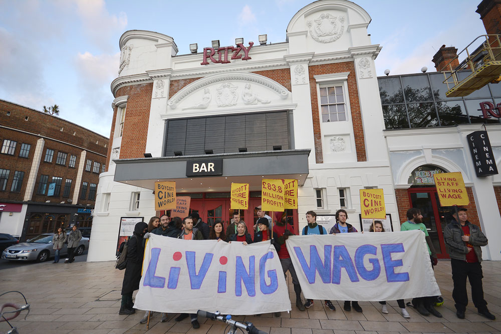 Ritzy workers in Windrush Square at the weekend