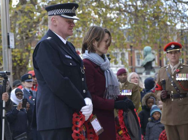 Local MP Helen Hayes and Lambeth police borough commander, chief superintendent Richard Wood