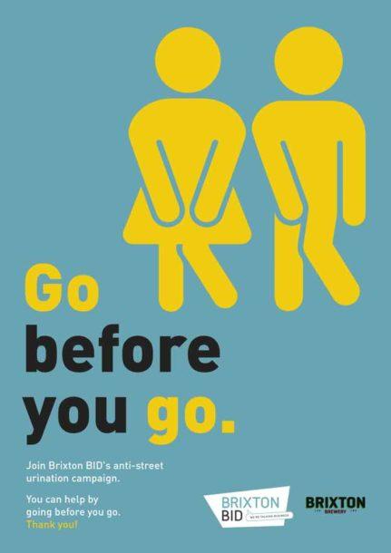 Brixton BID Go Before You Go poster