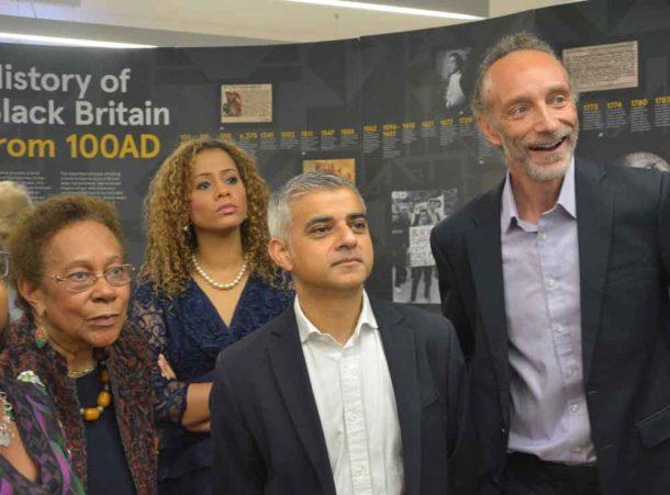 Dawn Hill, left, with BCA patron Miranda Brawn, London mayor Sadiq Khan and BCA director Paul Reid at the archives last year