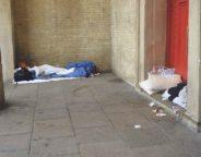 Rough sleeper beds St Matthews Brixton