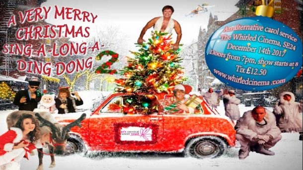 Whirled Cinema poster for Christmas charity fundraiser