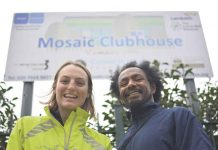 Sinead and Simon from mental health charity Mosaic are running the marathon to raise funds