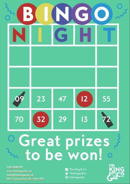 Bingo at The King&Co