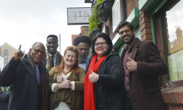 Donatus Anyanwu, Reece Simwogerere, Louise Barron, Tony Pommell, Amy Lamé and Mohammed Seedat