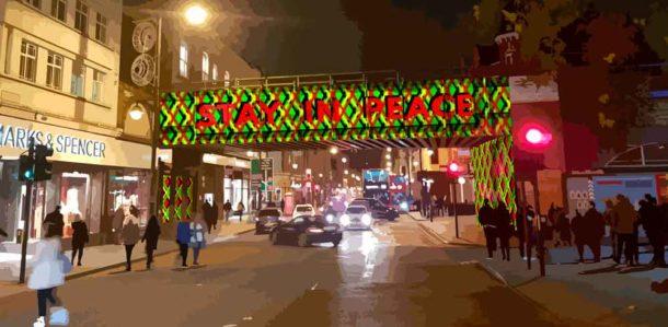 Winning Bridge Design text Stay in Peace
