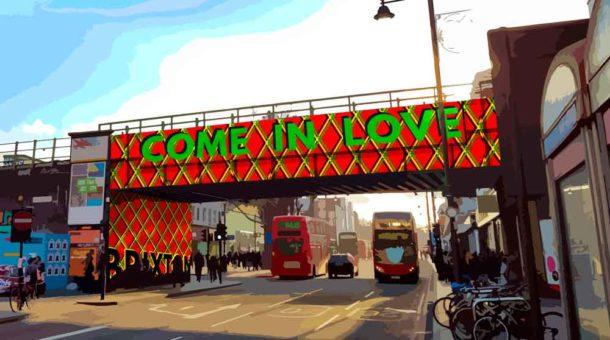 Winning Bridge Design text Come in Love