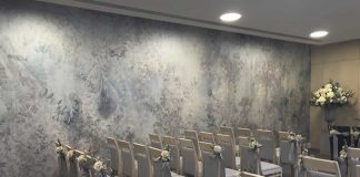 New wallpaper for the town hall registry office