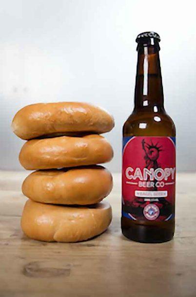 Canopy Bagel Beer bottle