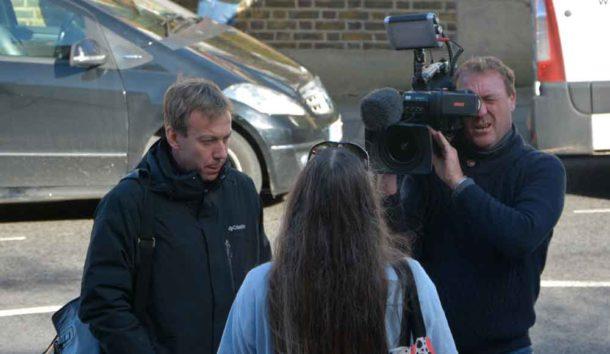 BBC interviews protester