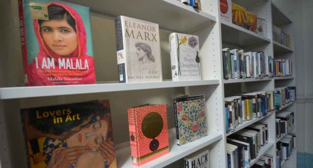 Marx and (below) local boy John Major on the shelves