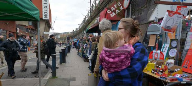 The human chain on Brixton Station Road